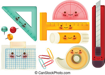 Set of back to school icons - Vector file EPS10