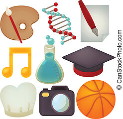 Set of school icons - Vector File EPS10
