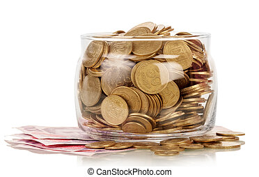 The financial reserves - Financial reserves in glass jar,...