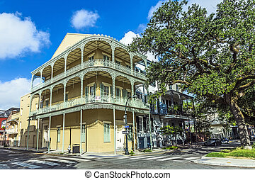 historic building in the French Quarter - historic building...