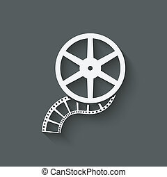 film roll design element - vector illustration. eps 10