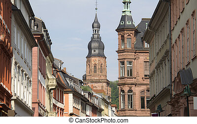 Holy Spirit Church Heidelberg, Germany - The tower of the...