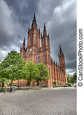 Marktkirche in Wiesbaden, Germany - The Marktkirche church...
