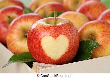 maçã, Coração, Amor, topic