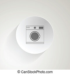 Flat vector icon for washing machine