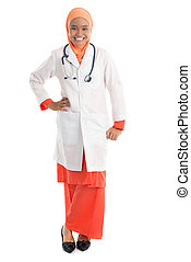 Full length young Muslim female doctor - Full body young...
