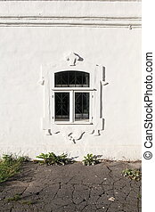 window monastic cell - monastic cell window on old white...