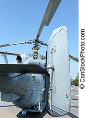 Attack helicopter rear view - military helicopter Kamov rear...