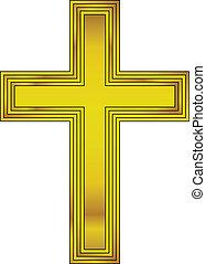 Religious gold cross