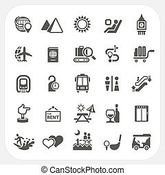 Travel and Vacation icons set, EPS10, Don't use...