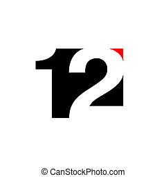 Number 12 abstract sign - Branding identity corporate logo...