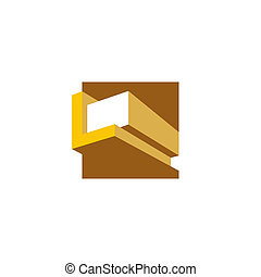 Woodworking abstract sign - Branding identity corporate logo...