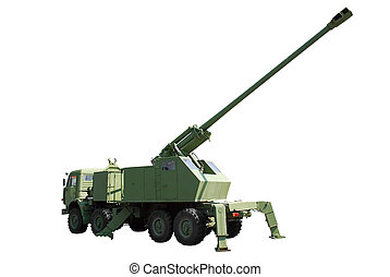 howitzer - self-propelled howitzer isolated