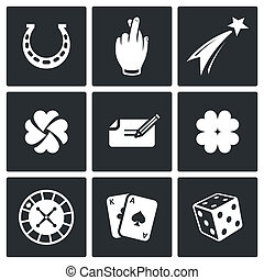 Gambling and fortune icon collection - Gambling and fortune...