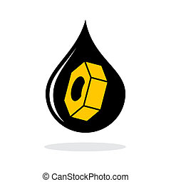 Abstract oil industry sign