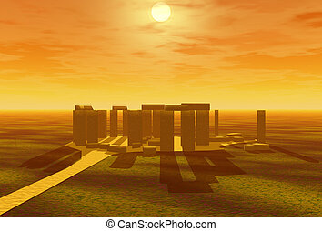 stonehenge 3d illustration
