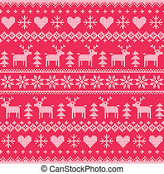 Winter, Christmas red pattern - Christmas red vector...