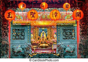 Bishan Temple in Taipei - Taiwan - Alatar in the Bishan...