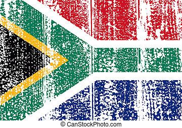 South Africa grunge flag. Vector illustration.