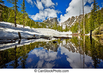 Tyndall Creek at the Rocky Mountain National Park - Tyndall...