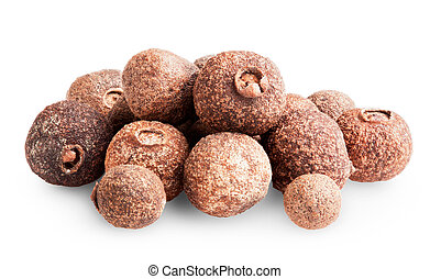 peppercorns - pile of peppercorns isolated on white...