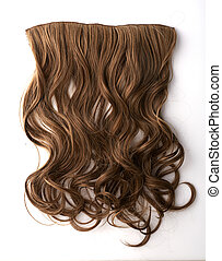 Brown hair piece