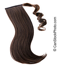 Dark brown hair piece