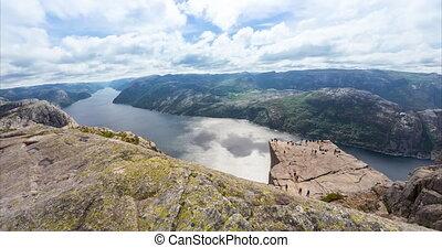 4K Timelapse, Preikestolen, Norway