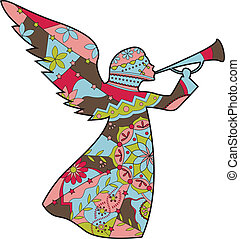 Angel - vector illustration of drawing Angel