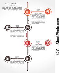 Timeline design template, vector eps10 illustration