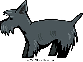Scottie Dog - stylized vector illustration of a cute...