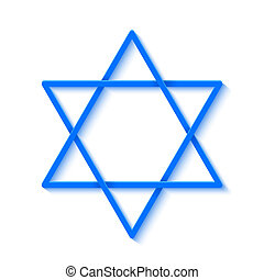 Star of David Isolated on White Background Vector...