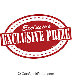 Exclusive prize - Stamp with text exclusive prize inside,...