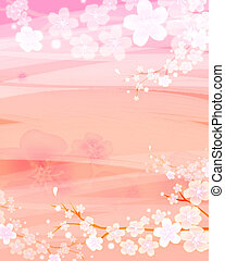 flower background - A bright flower stands out from the...