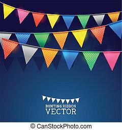 Festival Bunting Ribbons. Vector illustration.