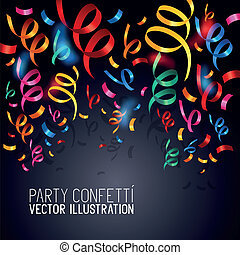 Party Confetti Vector - Party Confetti Colourful confetti...