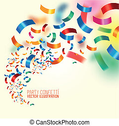 Party Confetti Colourful confetti background vector...