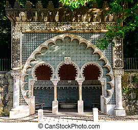 Moorish fountain, Sintra Portugal - Moorish fountain in...