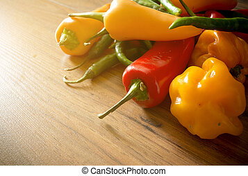 Fresh Chili Pepper Selection - A selection of fresh Chili...