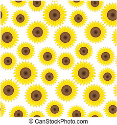 Seamless sunflower background - Seamless background with...