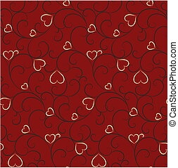 Seamless valentine background - Seamless background with...