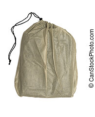 plastic sack isolated on white background