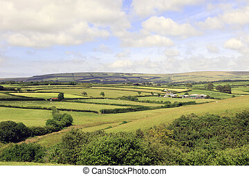 Farmland on Exmoor Devon England