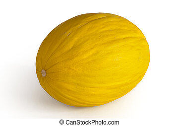 Canary melon on the white background