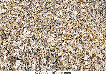 Wood chips for heating