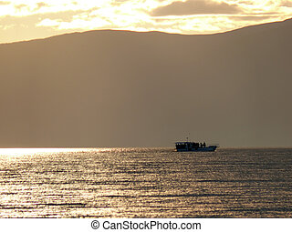 Irkutsk, Russia - August 24, 2012: the Nature of lake Baikal.