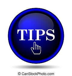 Tips icon. Internet button on white background.