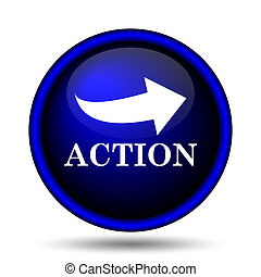 Action icon. Internet button on white background.