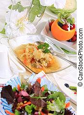 Vegetarian menu - Delicious vegetarian menu - cabbage soup...