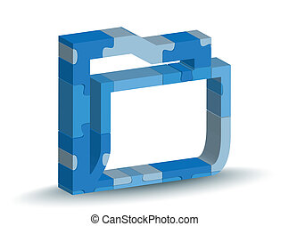 folder icon in puzzle